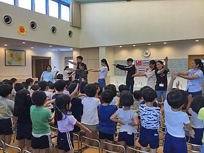 日本の保育園で交流