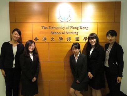 香港大学護理学院キャンパス内